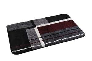Edler Designer Badteppich, Badvorleger, Vorleger - Badematte Farbe: Schwarz /- Grau /- Bordeaux Größe: 50 x 80cm-AWD A776
