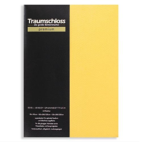 Traumschloss Edel-Jersey Spannbetttuch Premium 140-160 cm x 200-220 cm Gold