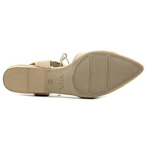 Mia Brandee Femmes Simili daim Chaussure Plate Natural