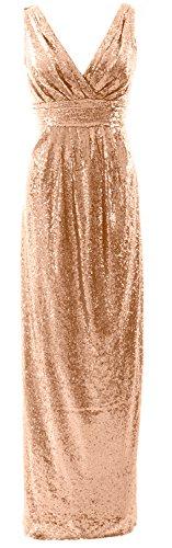 MACloth - Robe - Trapèze - Sans Manche - Femme Rose Gold