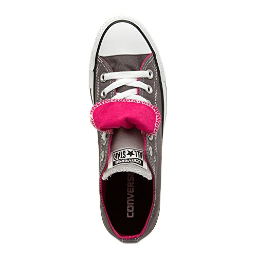 Converse Womens Chuck Taylor Double Tongue Textile Trainers Gris
