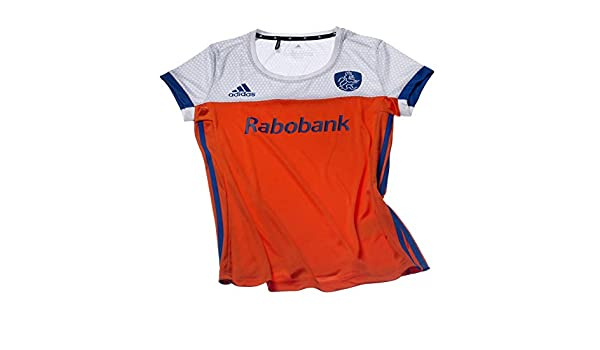 caba83069ee adidas Official KNHB Netherlands Replica Womens Hockey World Cup Home Jersey  Top Tee Shirt: Amazon.co.uk: Sports & Outdoors