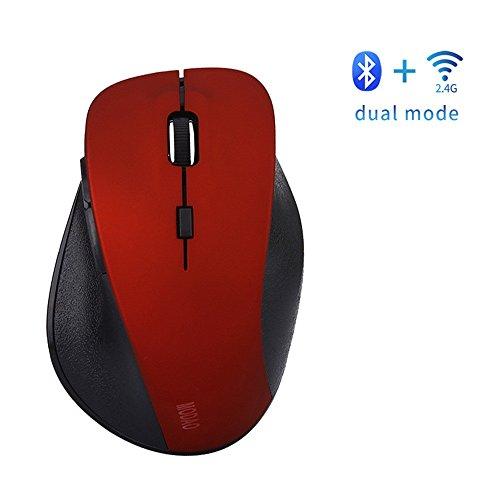 Theshy Mouse MODAO kabellose Gaming-Maus, wiederaufladbar, Bluetooth 4.0 und 2,4 G, Dual Mode, 6 Tasten Design Maus