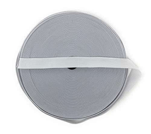 blanco 12m cinta elástica medianas fuerza de tracción 25 mm