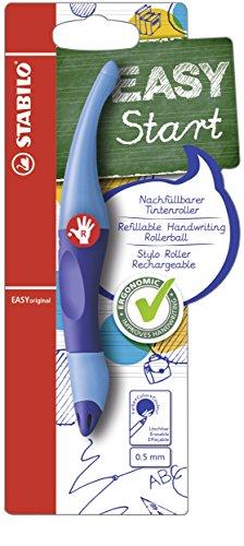 Ergonomischer Tintenroller - STABILO EASYoriginal in dunkel-/hellblau - Schreibfarbe blau (löschbar) - inklusive Patrone - für Rechtshänder (Pro Flat Roller)