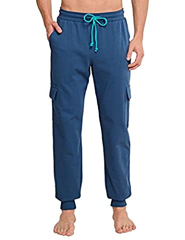 Uncover by Schiesser Herren Schlafanzughose Uncover Jersey Pants, Blau (Nachtblau