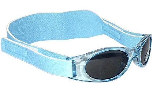 Sonnenbrille für Babys unter 2 Jahren - Sunnyz - Mit Kopfband! (blau)