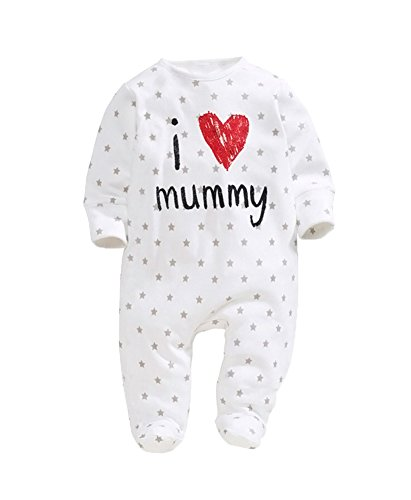 KAIKSO-IN Babyspielanzug 2015 Newborn Ich liebe Mama & Papa-Baby-Kostüm Mädchen Overall Kleidung Winter-Spielanzug Körper BABY-KLEIDUNG (Mama Kostüme Papa Baby)