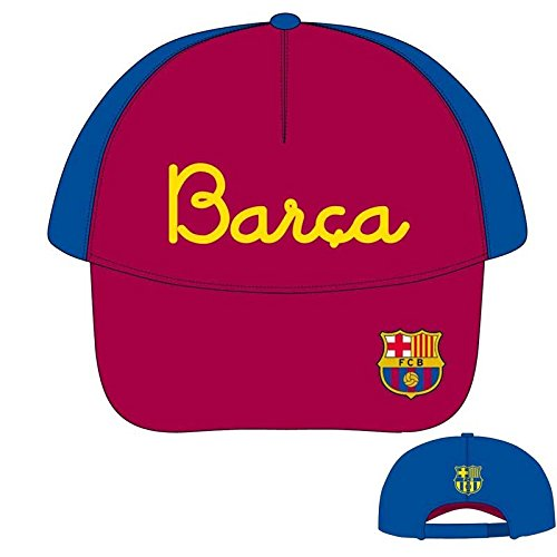 F.C.BARCELONA – Gorra Barça, Color Azul Y Granate, Talla 50 Cm Diámetro