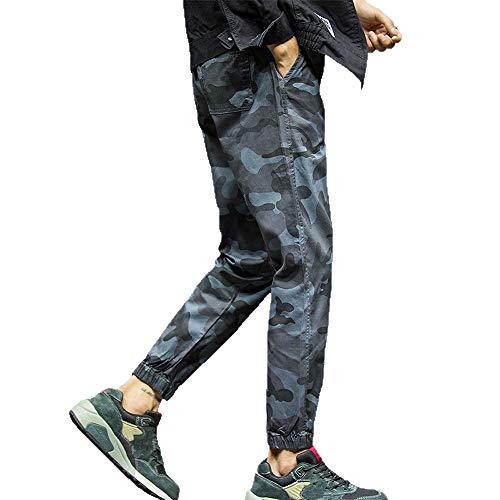 serliy Mens Fashion Camouflage Neun Punkte Kleine Füße Looser Casual Pant Langarm Tragen Lässige Anzug Tragen Lässige Kleidung Kleid langärmlig Knopfleiste schöne Langarmshirts