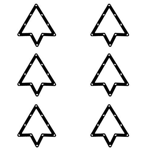 6 Stk. Magische Rack Billard Dreieck Triangel Queue Zubehör schwarz 9 und 10 Ball