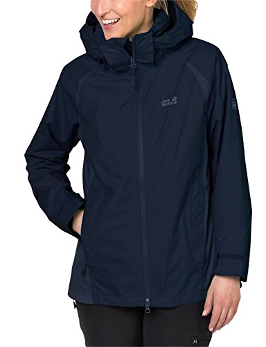 Jack Wolfskin Damen Hopewell Rocks 3-in-1 Jacke, Midnight Blue, M