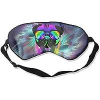 Sleeping Eye Mask Velocitee DJ Pug Dog Colourful Neon Music Clubbing Natural Silk Eye Mask Cover With Adjustable... preisvergleich bei billige-tabletten.eu