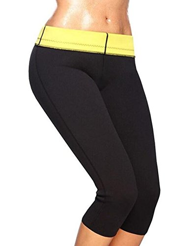 Legging Minceur Pantalons de Sudation Femme Néoprène Sweat Sauna Favorise la Transpiration (M)