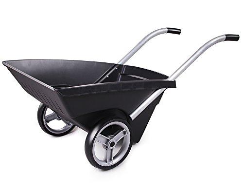 Ondis24 Transportkarre Zweirad Schubkarre Kunststoff Gartenkarre Carrello 120 Liter