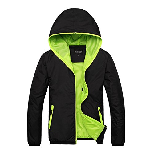 Partiss - Blouson - Homme - 16 Black and Green