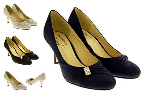 Sabatine Femmes Satin Mid Cour de talon Chaussures