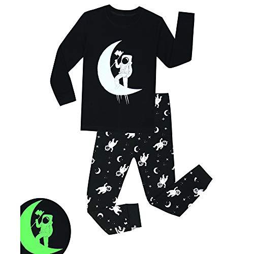 as Glow-in-The-Dark Nachtwäsche für Kleinkinder Kinder PJS Größe 1-8T (Farbe : Black+Space, Größe : 5T) ()