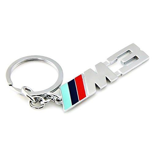 ATpart Schlüsselanhänger Deko Metall Schlüsselanhänger, Zubehör M M3 M5 Schlüsselzubehör für BMW, rot, m