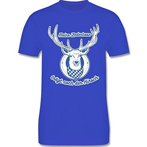 Shirtracer Oktoberfest Herren - Meine Lederhose Trägt Noch der Hirsch - Herren T-Shirt Rundhals Royalblau