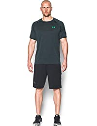 Under Armour Ua Tech Ss Tee Herren Fitness - T-Shirts & Tanks, Grau Stealth Grey Vapor Green, M