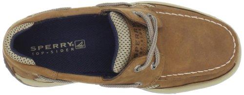Sperry Lanyard Boat Shoe (Little Kid/Big Kid) Dark Tan/Navy