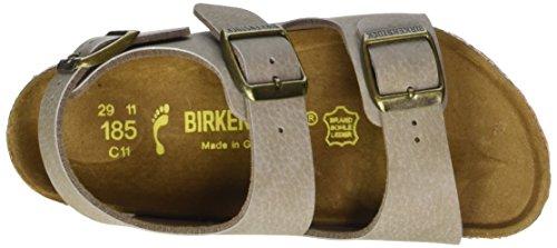 Birkenstock Milano, Sandales Bride cheville mixte enfant Beige (Desert Soil Taupe/Ls Orange)