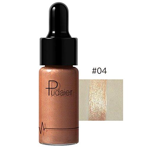 1PC Surligneur Make Up Concealer Shimmer Face Glow Liquide Surligneur Crème 12 couleurs (04#)