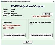 Adjustment Program Resetter Multi PC Compatible With Epson L380 / 383 / 385 / 485