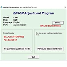 Adjustment Program Resetter Multi PC Compatible With Epson L380 / 383 / 385 / 485 (Email Delivery - No CD)