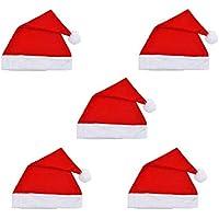 Hat Pink Santa - 5pcs adultas de la fiesta de Navidad Navidad sombreros sombreros de mujer Hombres Niños Niñas sombreros de la Navidad partido de los apoyos Exquisito y encantador exquisito y lindo na