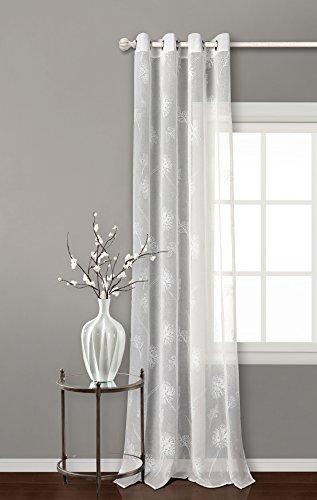 Pimpan tex - tenda trasparente con 8 occhielli, dimensioni: 140x 260cm, per soggiorno e camera da letto, modello minerva (colore naturale)