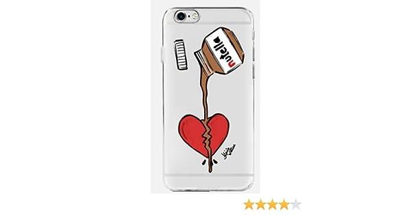 Coquefone Coque iPhone 7 et iphone 8 Pot Nutella Coeur Chocolat Noisette