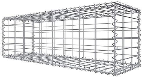 Niederberg Metall Gabione 100x30x30 Steingabione MW 5x10 Gitterkorb Steinkorb -