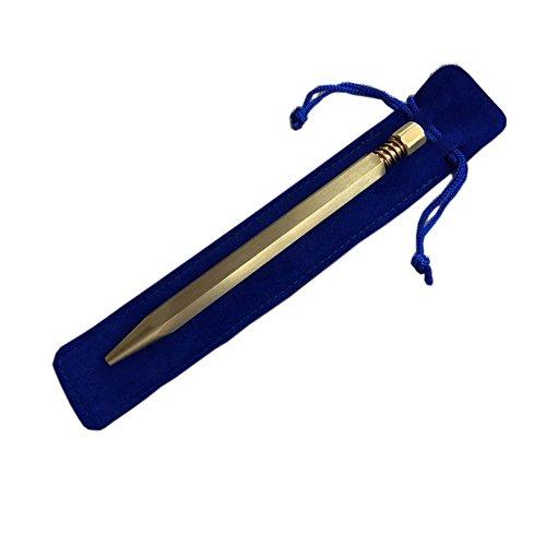 Premium-Hand poliert Kupfer Kugelschreiber sechseckigen automatischen Gold Kugelschreiber Vintage-Stil besten Schreibgeräte (Stift Nachfüllung nicht enthalten)