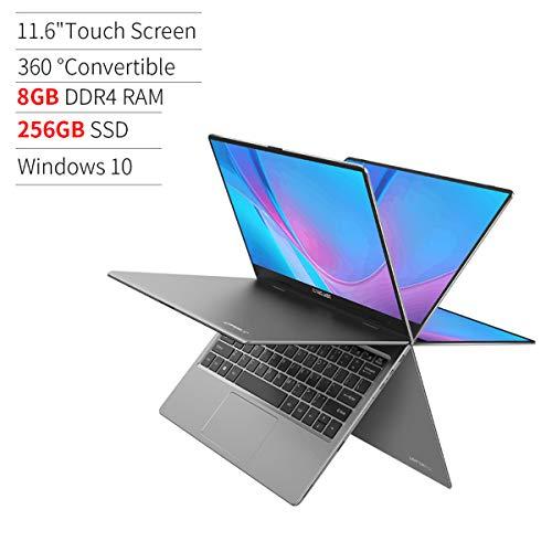 Ordenador Portátil 11.6 Pulgada TECLAST F5R Ultrabook 360° Convertible 1920x1080 IPS 8GB RAM 256GB SSD Intel N3450 Win 10 Dual-Band WiFi, Bluetooth 4.2