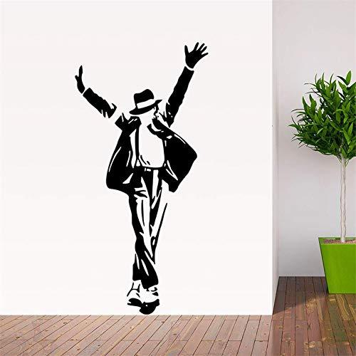 YXWYSQ Tanzen Michael Jackson Junge Mädchen Fans Schlafzimmer Dekor Wandaufkleber Abziehbilder Poster Home Decor Musik gut aussehend gift36x69cm (Michael Decor Jackson Home)