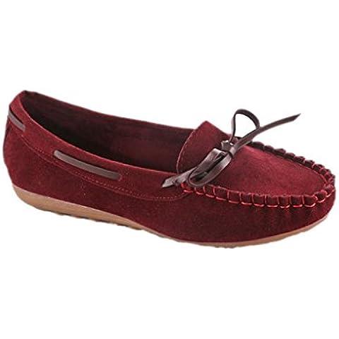 Transer® Moda Mujeres Flats Zapatos Zapatos Zapatos Mocasines planos de deslizamiento en la