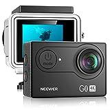 Neewer G0 HD 4K Action Camera 12MP, 98 ft Underwater Waterproof Camera: 170