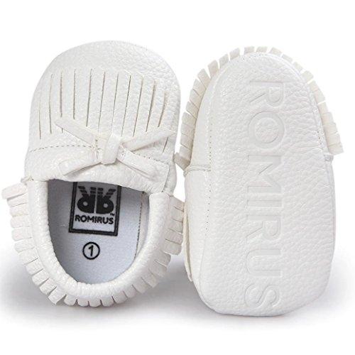 BZLine® Baby-Krippe Quasten Bowknot Schuhe Sneakers Casual Schuhe Weiß