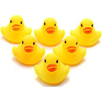 HeroNeo® Lots Yellow Baby Children Bath Toys Cute Rubber Squeaky Duck Ducky  1/5/10/20Pcs (20)