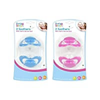 First Steps Cherry Soothers, Pack of 2 Soothers, Colour Assorted