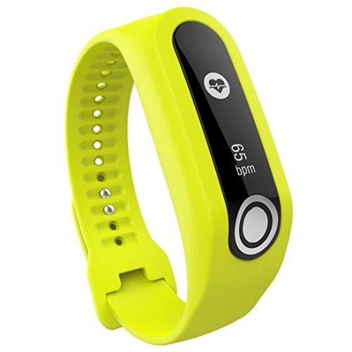 samLIKE Ersatz Silikon Band Strap für Tomtom Touch Cardio Activity Tracker (Gelb)