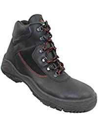 Jallatte - Chaussures De Sécurité En Cuir Pour Les Hommes, Couleur Noir, Taille 36 Eu
