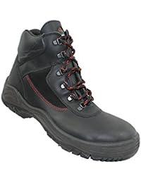 Siili Safety - Calzado de protección de Piel para hombre, color Negro, talla 43