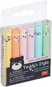 Legami - Set di 6 Mini Evidenziatori, Teddy's S