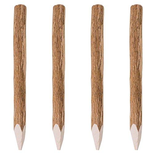 *Festnight Angespitzter Zaunpfahl Holzpfosten Pfahl aus Holz 4 Stk. Haselnussholz 90 cm*