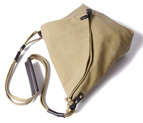 ERGEOB Damen Segeltuchtasche Handtasche Schultertasche grau 05 orange