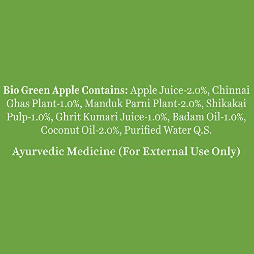 Biotique Bio Green Apple Fresh Daily Purifying Shampoo & Conditioner for Oily Scalp & Hair, 180 ml