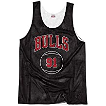 "Mitchell & Ness NBA Chicago Bulls Dennis Rodman ""The Worm"" 91 Retro Reversible Practice"
